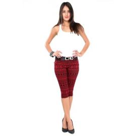 Glam & Luxe Red Capris